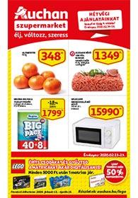 Auchan Szupermarket akciós újság 2020. 02.13-02.19