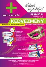 Kulcs patika akciós újság 2020. 02.01-02.29