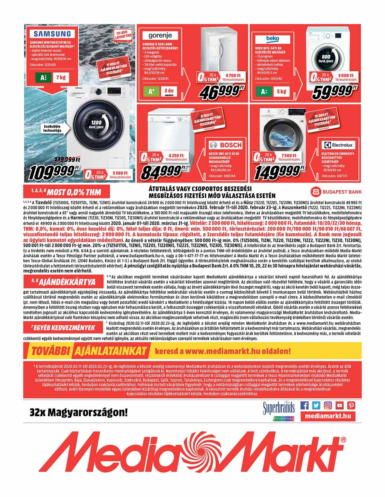Media Markt akciós újság 2020. 02.11-02.23