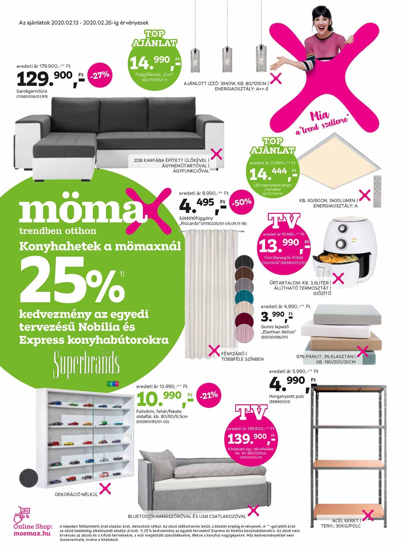 Mömax akciós újság 2020. 02.13-02.26
