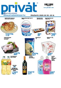 Privát Élelmiszer akciós újság 2020. 02.05-02.16
