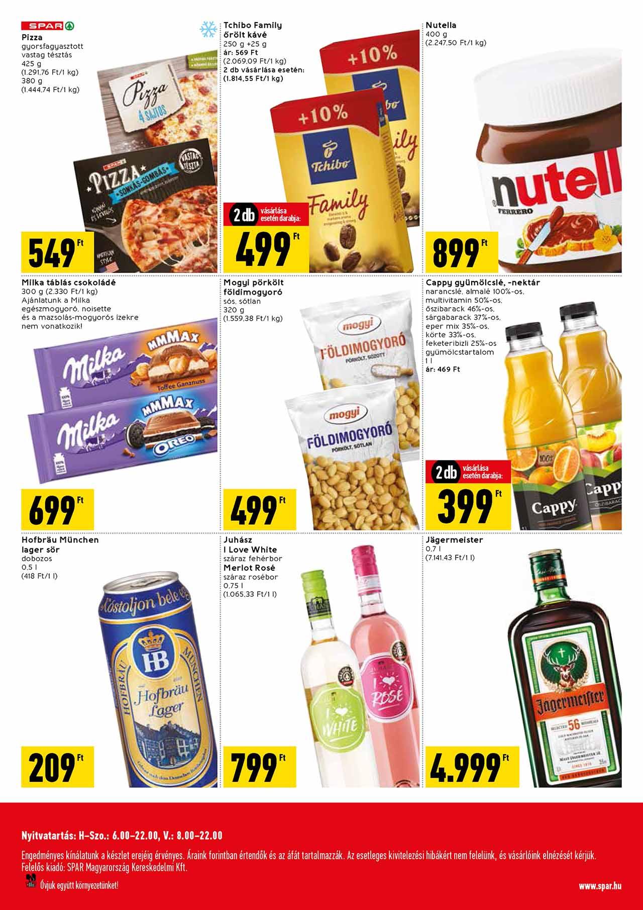 Spar Market Nagymező utca akciós újság 2020. 02.13-02.19