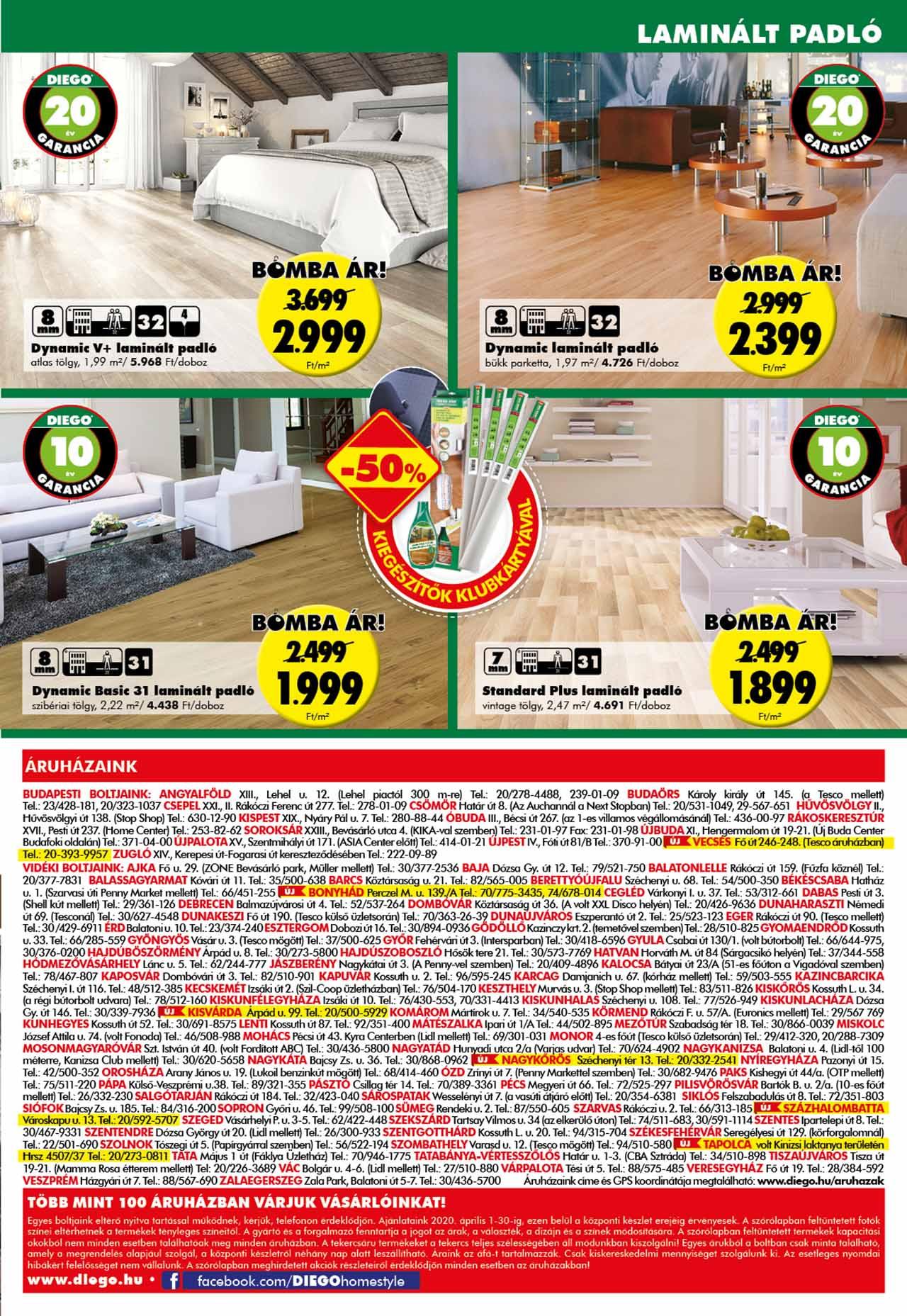Diego akciós újság 2020. 04.01-04.30