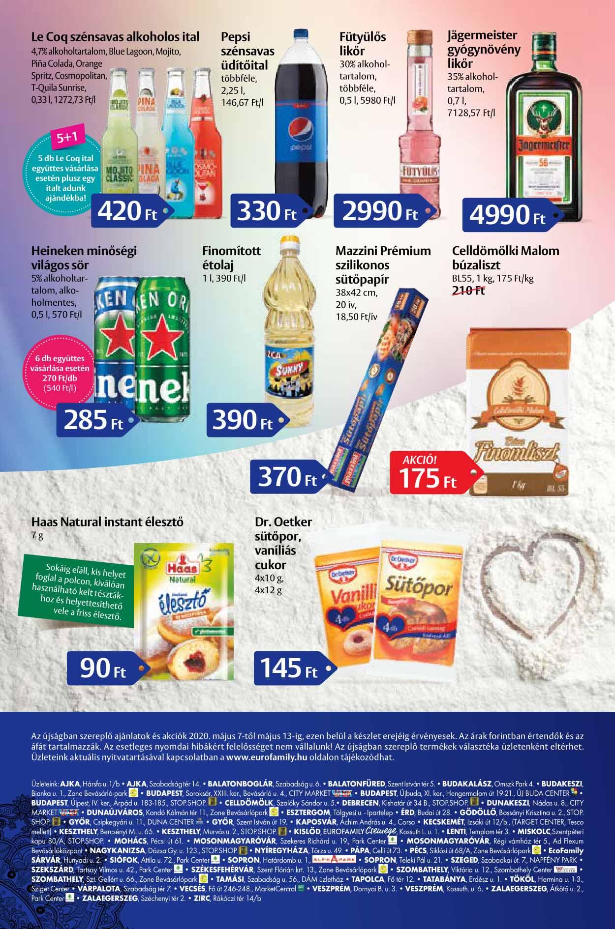 Euro Family akciós újság 2020. 05.07-05.13