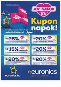 Euronics JOY-napok akciós újság 2020. 06.22-06.28