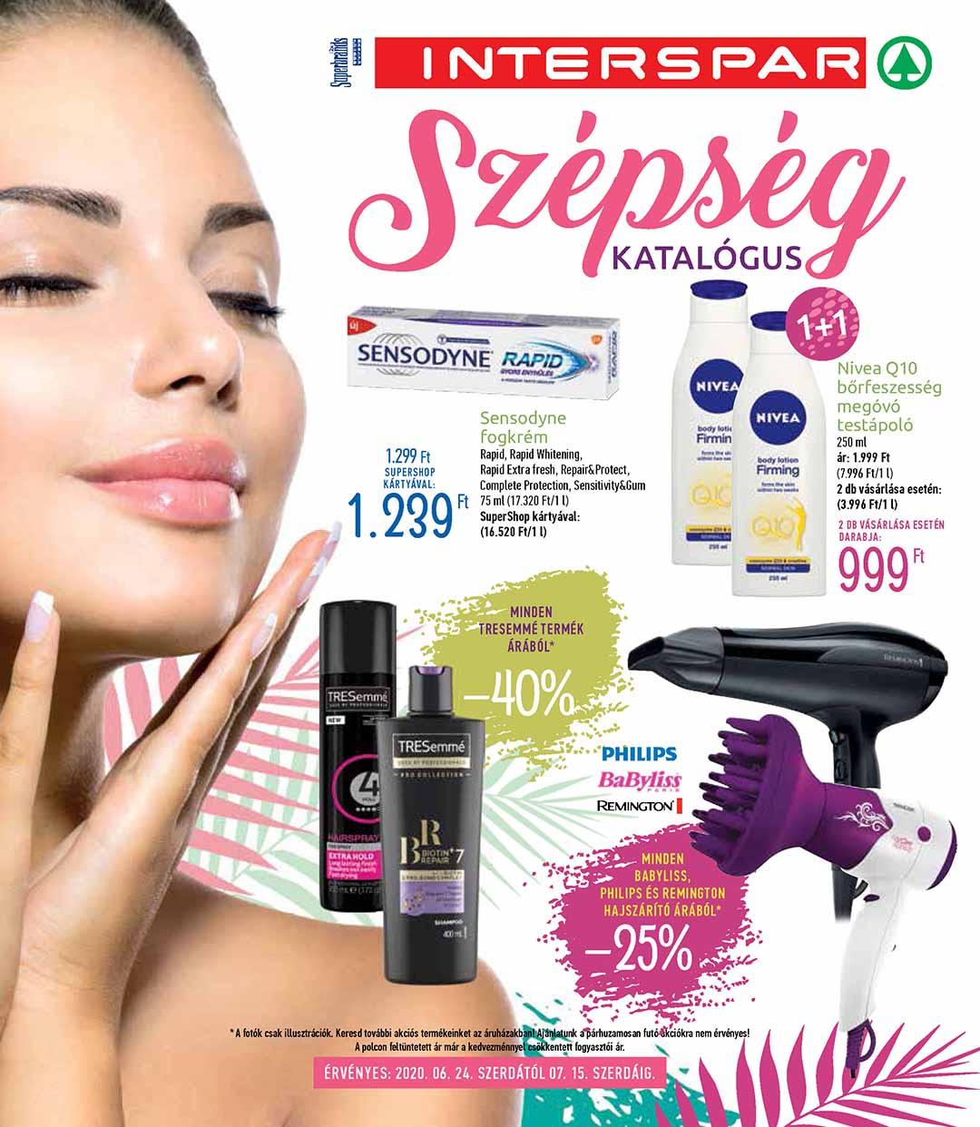 Interspar Szépség katalógus 2020. 06.25-07.15