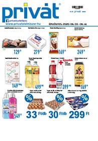 Privát Élelmiszer akciós újság 2020. 06.03-06.14