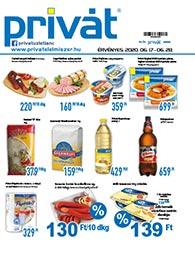 Privát Élelmiszer akciós újság 2020. 06.17-06.28