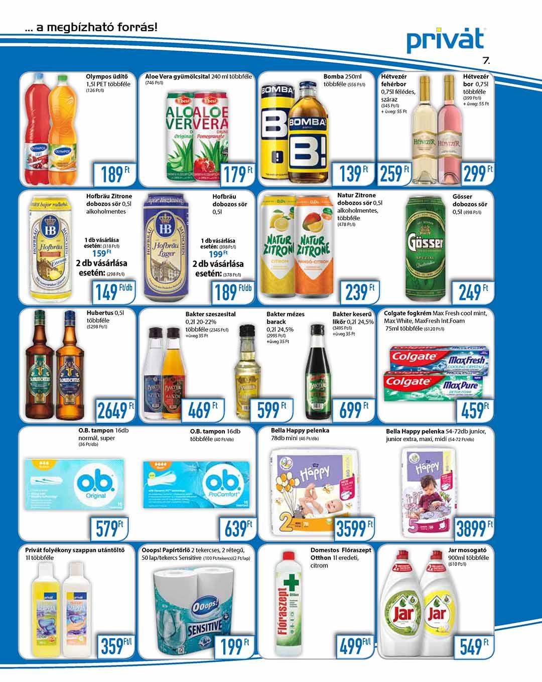 Privát Élelmiszer akciós újság 2020. 07.01-07.12
