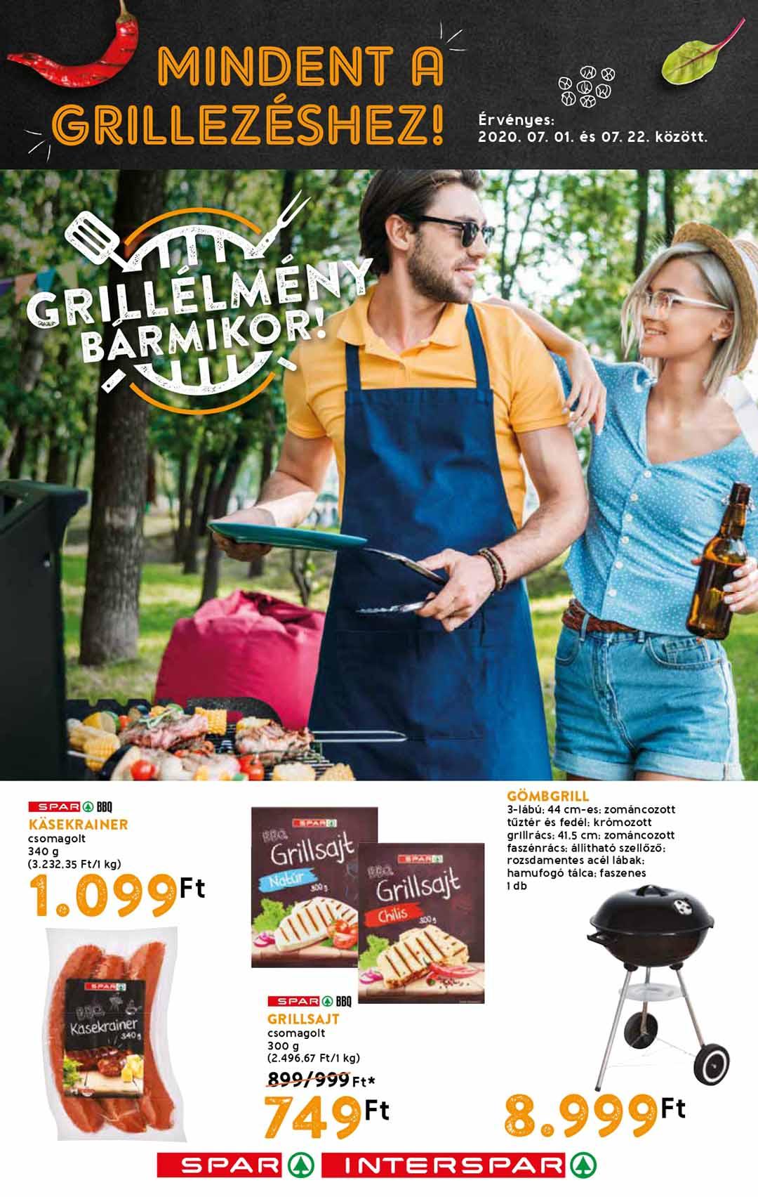 Spar Grill katalógus 2020. 07.01-07.22
