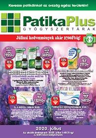 PatikaPlus akciós újság 2020. 07.01-07.31