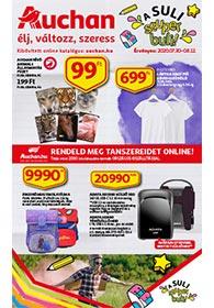 Auchan Iskolakezdés akciós újság 2020. 07.30-08.12