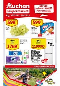 Auchan Szupermarket akciós újság 2020. 07.30-08.05