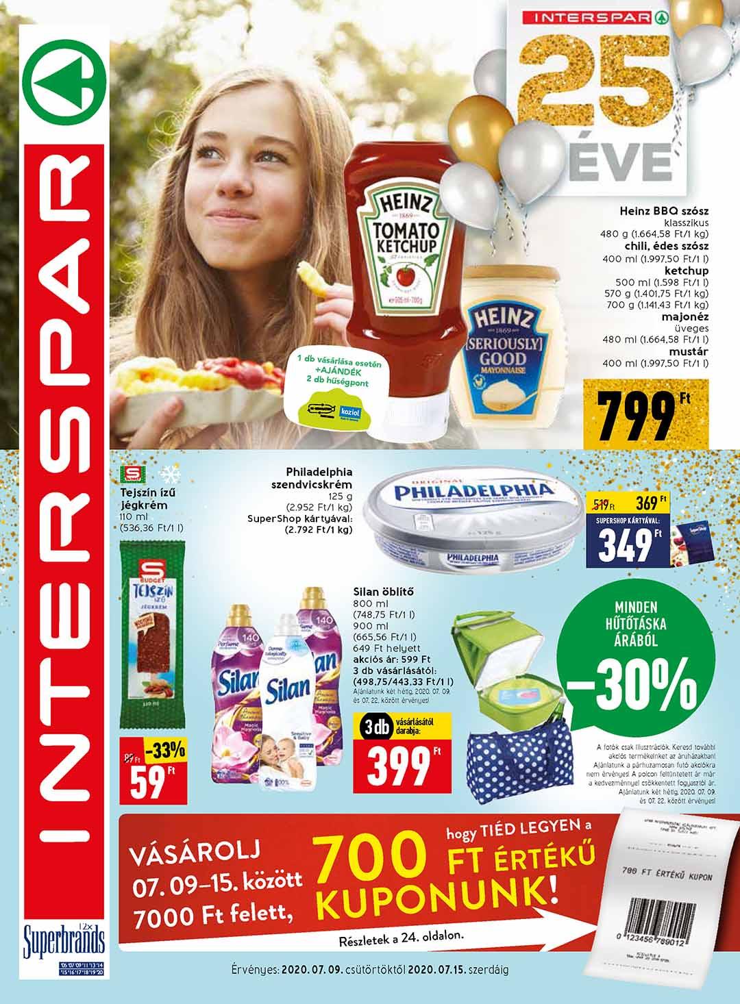 Interspar akciós újság 2020. 07.09-07.15