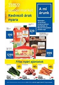 Tesco szupermarket akciós újság 2020. 07.23-07.29