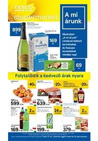 Tesco szupermarket akciós újság 2020. 07.30-08.05