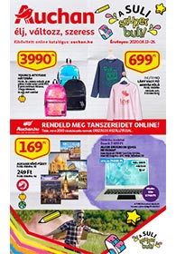 Auchan Iskolakezdés akciós újság 2020. 08.13-08.26