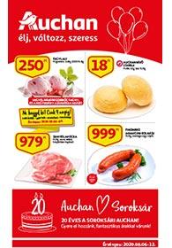 Auchan Soroksár akciós újság 2020. 08.06-08.12