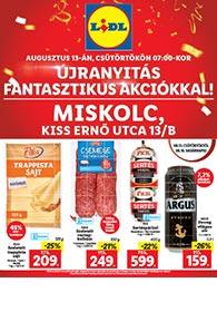 Lidl Miskolc akciós újság 2020. 08.13-08.16