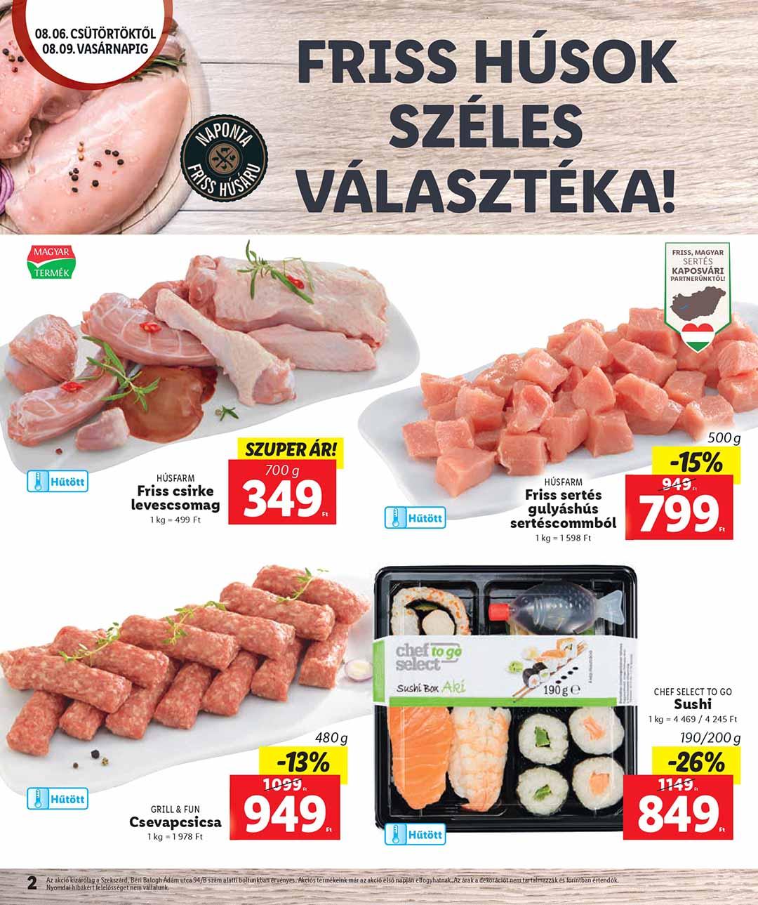 Lidl Szekszárd akciós újság 2020. 08.06-08.09