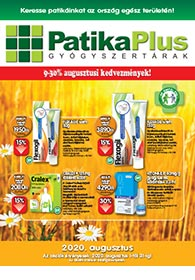 PatikaPlus akciós újság 2020. 08.01-08.31