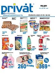 Privát Élelmiszer akciós újság 2020. 07.29-08.09
