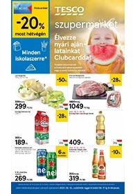 Tesco szupermarket akciós újság 2020. 08.13-08.17