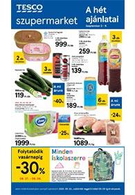 Tesco szupermarket akciós újság 2020. 09.03-09.09