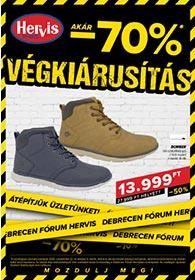 Hervis Debrecen akciós újság 2020. 09.22-10.04