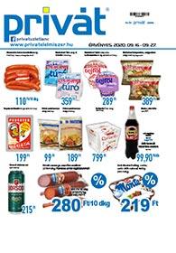 Privát Élelmiszer akciós újság 2020. 09.16-09.27