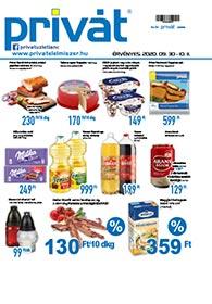 Privát Élelmiszer akciós újság 2020. 09.30-10.11