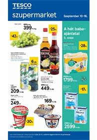 Tesco szupermarket akciós újság 2020. 09.10-09.17