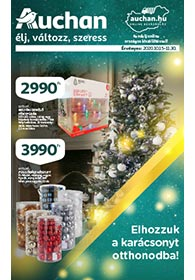 Auchan Karácsonyi Dekoráció 2020. 10.15-11.30