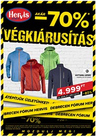 Hervis Debrecen akciós újság 2020. 10.06-10.11