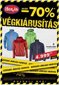 Hervis Szeged akciós újság 2020. 10.06-10.11