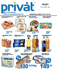 Privát Élelmiszer akciós újság 2020. 10.14-10.25