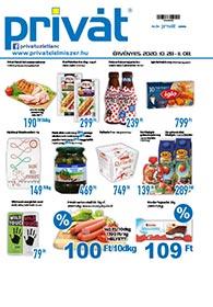 Privát Élelmiszer akciós újság 2020. 10.28-11.08