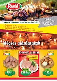 Reál Alfa akciós újság 2020. 10.29-11.08