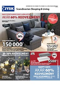 JYSK akciós újság 2020. 11.05-11.18