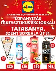 Lidl Tatabánya akciós újság 2020. 11.19-11.22