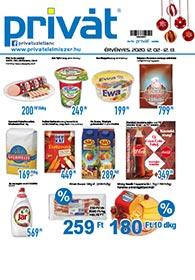 Privát Élelmiszer akciós újság 2020. 12.03-12.13