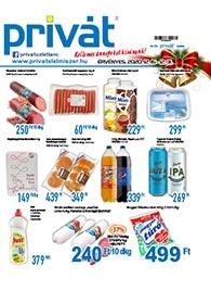Privát Élelmiszer akciós újság 2020. 12.16-12.31