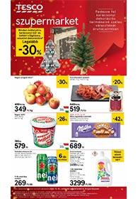 Tesco szupermarket akciós újság 2020. 12.10-12.16