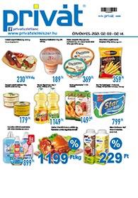 Privát Élelmiszer akciós újság 2021. 02.03-02.14