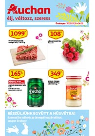 Auchan Húsvéti katalógus 2021. 03.29-04.03