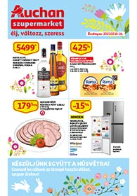 Auchan Szupermarket akciós újság 2021. 03.18-03.24