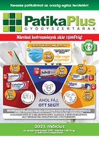 PatikaPlus akciós újság 2021. 03.01-03.31