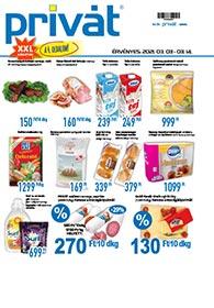Privát Élelmiszer akciós újság 2021. 03.03-03.14