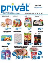 Privát Élelmiszer akciós újság 2021. 03.17-03.28