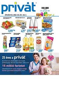 Privát Élelmiszer akciós újság 2021. 03.29-04.11